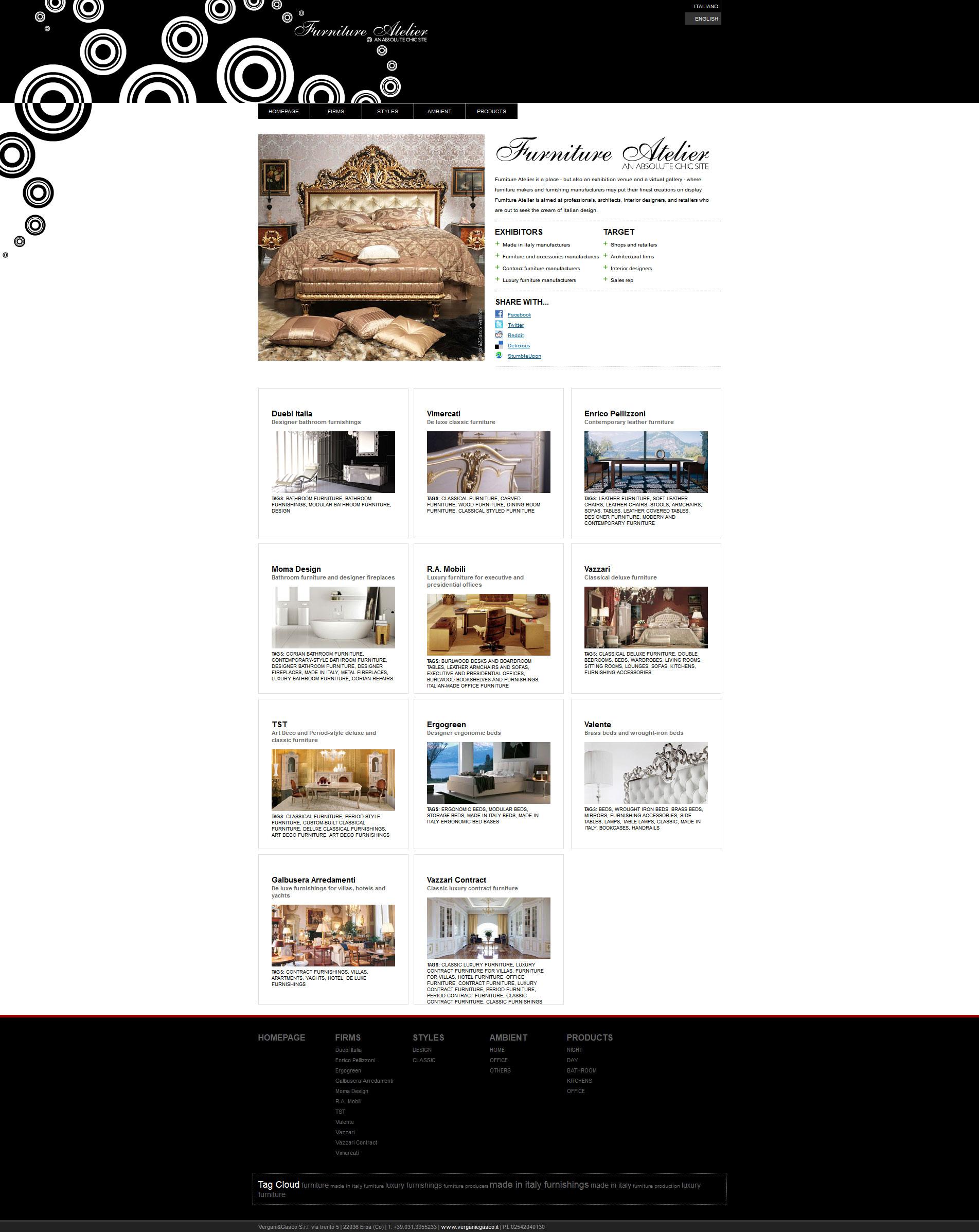 Furniture atelier vergani gasco interactive web agency for Vergani home arredamento