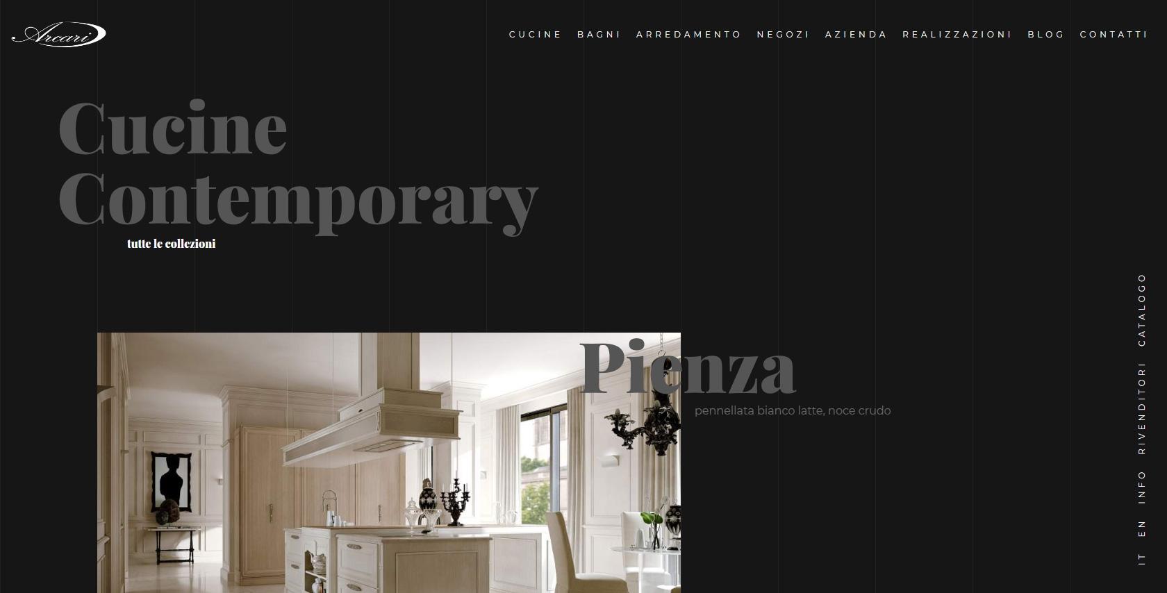 Arcari arredamenti vergani gasco interactive web agency for Vergani arredamenti